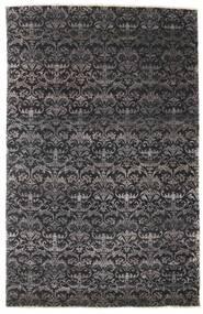 Damask Szőnyeg 164X255 Modern Csomózású Fekete/Sötétbarna ( India)
