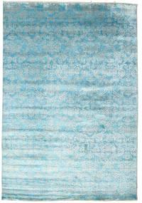 Damask Szőnyeg 204X299 Modern Csomózású Világoskék/Türkiz Kék ( India)