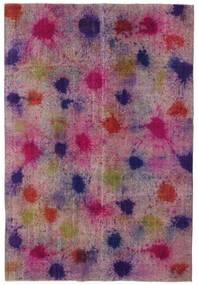 Colored Vintage Szőnyeg 196X290 Modern Csomózású Rózsaszín/Bíbor (Gyapjú, Törökország)