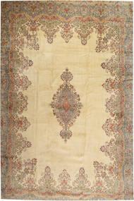 Kerman Szőnyeg 405X605 Keleti Csomózású Világosbarna/Bézs Nagy (Gyapjú, Perzsia/Irán)