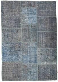 Patchwork Szőnyeg 141X200 Modern Csomózású Sötétszürke/Kék/Világoskék (Gyapjú, Törökország)