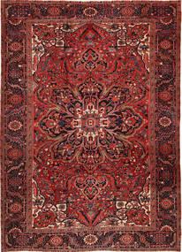 Heriz Szőnyeg 262X358 Keleti Csomózású Sötétpiros/Sötétbarna Nagy (Gyapjú, Perzsia/Irán)