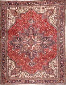 Heriz Szőnyeg 293X380 Keleti Csomózású Sötétpiros/Bézs Nagy (Gyapjú, Perzsia/Irán)