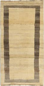 Gabbeh Perzsa Szőnyeg 97X191 Modern Csomózású Bézs/Sötét Bézs (Gyapjú, Perzsia/Irán)