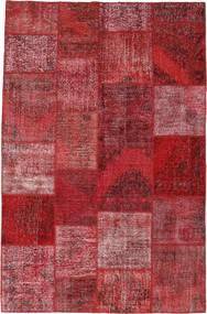 Patchwork Szőnyeg 196X301 Modern Csomózású Sötétpiros/Bíbor (Gyapjú, Törökország)