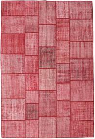 Patchwork Szőnyeg 205X305 Modern Csomózású Rózsaszín/Rozsdaszín (Gyapjú, Törökország)