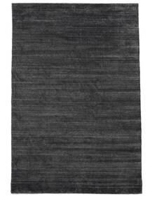 Bamboo Selyem Loom - Charcoal Szőnyeg 200X300 Modern Fekete/Bíbor/Sötétszürke ( India)