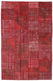 Patchwork Szőnyeg 196X301 Modern Csomózású Sötétpiros/Piros (Gyapjú, Törökország)