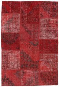 Patchwork Szőnyeg 157X234 Modern Csomózású Sötétpiros/Piros (Gyapjú, Törökország)