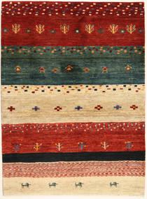 Loribaft Perzsa Szőnyeg 102X140 Modern Csomózású Piros/Sötétzöld (Gyapjú, Perzsia/Irán)