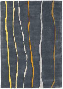 Flaws Handtufted - Szürke Szőnyeg 140X200 Modern Sötétszürke/Sötétkék (Gyapjú, India)