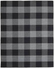 Check Kilim Szőnyeg 240X300 Modern Kézi Szövésű Sötétszürke/Sötétkék (Gyapjú, India)