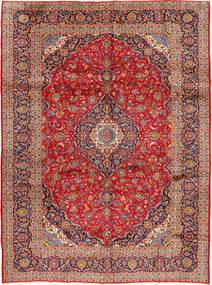 Kashan Szőnyeg 298X397 Keleti Csomózású Rozsdaszín/Sötétpiros Nagy (Gyapjú, Perzsia/Irán)