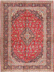 Kashan Szőnyeg 295X392 Keleti Csomózású Rozsdaszín/Barna Nagy (Gyapjú, Perzsia/Irán)