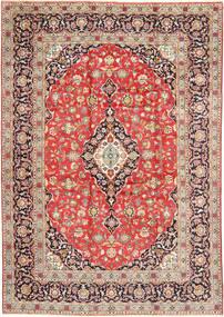 Kashan Szőnyeg 260X377 Keleti Csomózású Rozsdaszín/Bézs Nagy (Gyapjú, Perzsia/Irán)
