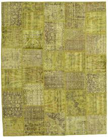 Patchwork Szőnyeg 197X254 Modern Csomózású Olívazöld (Gyapjú, Törökország)