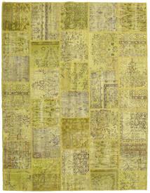 Patchwork Szőnyeg 197X255 Modern Csomózású Olívazöld/Sárga (Gyapjú, Törökország)