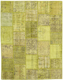Patchwork Szőnyeg 198X254 Modern Csomózású Olívazöld/Sárga (Gyapjú, Törökország)