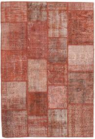Patchwork Szőnyeg 138X202 Modern Csomózású Sötétpiros/Világos Rózsaszín (Gyapjú, Törökország)