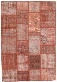 Patchwork Szőnyeg 138X203 Modern Csomózású Sötétpiros/Világos Rózsaszín (Gyapjú, Törökország)