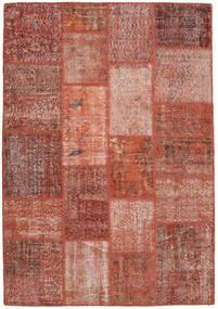 Patchwork Szőnyeg 139X201 Modern Csomózású Sötétpiros/Piros (Gyapjú, Törökország)