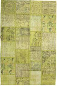Patchwork Szőnyeg 199X304 Modern Csomózású Olívazöld/Sárga (Gyapjú, Törökország)
