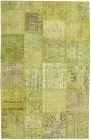 Patchwork Szőnyeg 194X302 Modern Csomózású Olívazöld/Világoszöld (Gyapjú, Törökország)