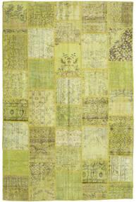 Patchwork Szőnyeg 196X298 Modern Csomózású Olívazöld/Sárga (Gyapjú, Törökország)