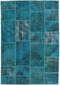 Patchwork Szőnyeg 159X231 Modern Csomózású Sötét Turquoise/Sötétkék (Gyapjú, Törökország)