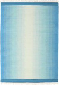 Ikat - Kék/Turquoise Szőnyeg 210X290 Modern Kézi Szövésű Világoskék/Türkiz Kék (Gyapjú, India)