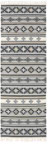 Kilim Cizre Szőnyeg 80X250 Modern Kézi Szövésű Világosszürke/Sötétszürke (Gyapjú, India)