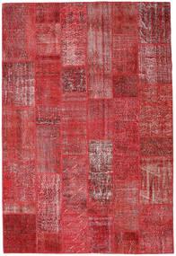 Patchwork Szőnyeg 204X302 Modern Csomózású Sötétpiros/Piros (Gyapjú, Törökország)
