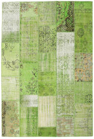 Patchwork Szőnyeg 201X299 Modern Csomózású Világoszöld/Zöld (Gyapjú, Törökország)
