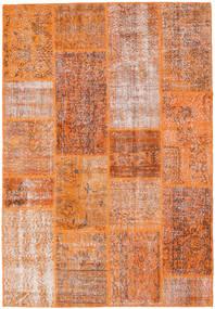 Patchwork Szőnyeg 161X236 Modern Csomózású Narancssárga/Sötétpiros (Gyapjú, Törökország)