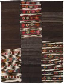 Kilim Patchwork Szőnyeg 200X268 Modern Kézi Szövésű Sötétbarna (Gyapjú, Törökország)