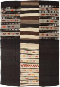 Kilim Patchwork Szőnyeg 219X322 Modern Kézi Szövésű Sötétbarna/Bézs (Gyapjú, Törökország)