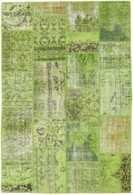 Patchwork Szőnyeg 161X238 Modern Csomózású Világoszöld/Olívazöld (Gyapjú, Törökország)