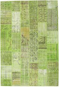 Patchwork Szőnyeg 203X303 Modern Csomózású Világoszöld/Olívazöld (Gyapjú, Törökország)
