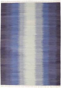 Ikat - Sötét Kék Szőnyeg 210X290 Modern Kézi Szövésű Világosszürke/Bíbor (Gyapjú, India)