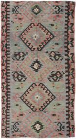 Kilim Törökország Szőnyeg 153X292 Keleti Kézi Szövésű Sötétszürke/Barna (Gyapjú, Törökország)