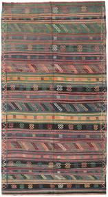 Kilim Törökország Szőnyeg 155X286 Keleti Kézi Szövésű Sötétszürke/Barna (Gyapjú, Törökország)