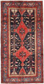 Koliai Szőnyeg 150X290 Keleti Csomózású Sötétpiros/Fekete (Gyapjú, Perzsia/Irán)