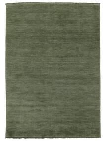 Handloom Fringes - Erdőzöld Szőnyeg 160X230 Modern Sötétzöld/Sötétzöld (Gyapjú, India)