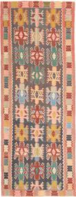Kilim Szőnyeg 147X397 Keleti Kézi Szövésű Sötétszürke/Világos Rózsaszín (Gyapjú, Perzsia/Irán)