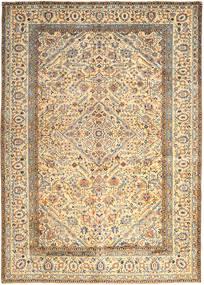 Kashan Szőnyeg 296X410 Keleti Csomózású Bézs/Sötét Bézs Nagy (Gyapjú, Perzsia/Irán)
