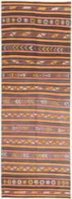 Kilim Fars Szőnyeg 145X427 Keleti Kézi Szövésű Világosbarna/Narancssárga (Gyapjú, Perzsia/Irán)