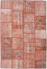 Patchwork Szőnyeg 157X234 Modern Csomózású Sötétpiros/Világos Rózsaszín (Gyapjú, Törökország)