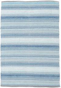 Wilma - Kék Szőnyeg 120X180 Modern Kézi Szövésű Világoskék/Bézs (Pamut, India)