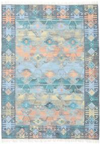 Azteca - Kék Multi Szőnyeg 210X290 Modern Kézi Szövésű Világoskék/Világosszürke (Gyapjú, India)