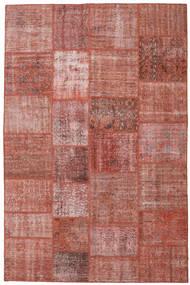 Patchwork Szőnyeg 198X302 Modern Csomózású Sötétpiros/Barna (Gyapjú, Törökország)